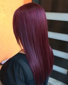 Plum merlot hair by plum hair, burgundy hair, hairspray, hair Hair Color For Fair Skin, Hair Color Pink, Hair Colors, Plum Hair, Burgundy Hair, Hair Color Highlights, Hair Color Balayage, Pelo Color Vino, Red Hair Inspo