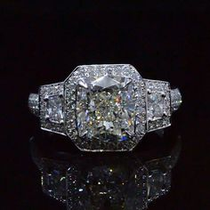 4.38 Ct. Cushion Cut Diamond Engagement Ring H,VS2 EGL - Recently Sold Engagement Rings