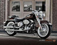 custom deluxe harley davidson | Harley Davidson FLSTN Softail Deluxe, instantanea frontolateral custom
