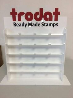 Keep all your STAMPS organised on STAMPS STAND made by TROTEC Laser Machine. Material Used - White Acrylic
