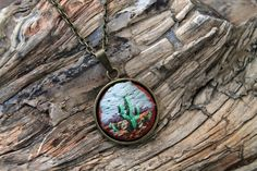 Miniature Embroidered Pendants Let You Hold the World's Beauty on Your Fingertips - My Modern Met