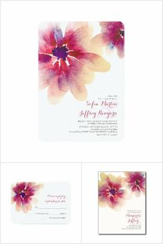 Red Flower Blossom Watercolor Wedding Collection. This rustic country wedding set / stationary / suite may include: Wedding invitation cards, wedding envelopes, wedding RSVP Cards, wedding address labels, save the dates, wedding programs, wedding thank you cards, rehearsal dinners, stamps and more matching wedding products. Click image to see all available matching items.
