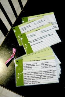 30 Meals Plan with Printable & Fillable Recipe Cards