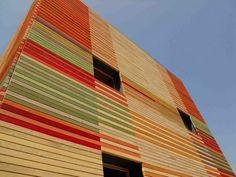 Temporary auditorium in L'Aquila - Courtesy of Renzo Piano Building Workshop + Atelier Traldi Renzo Piano, Colour Architecture, Facade Architecture, L Aquila Italy, Auditorium Design, Cladding, Exterior, Gallery, Wood