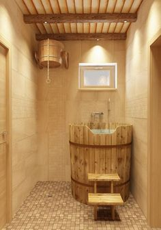 Easy And Cheap Diy Sauna Design You Can Try At Home 32 gestalten Small Basement Design, Small Basement Bathroom, Bathroom Plans, Bathroom Ideas, Design Bathroom, Modern Basement, Saunas, Sauna Steam Room, Sauna Room