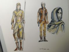 Drawing characters - skerching exercise