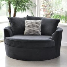 Roquefort Cuddler Barrel Chair