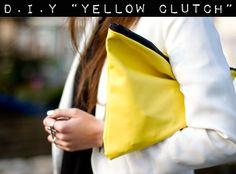 DIY: YELLOW CLUTCH - Stylescrapbook