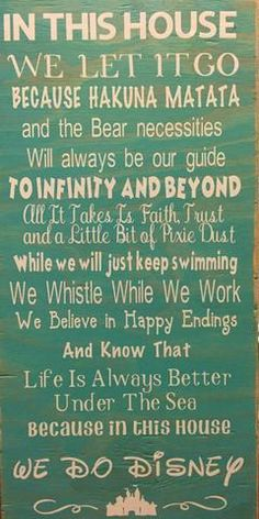Zippity-DO-DA! Disney in this house! This sign just makes us smile! These are…