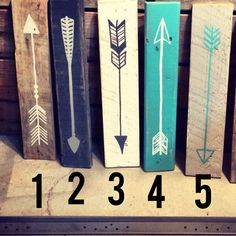 Reclaimed wood arrow by partyof9 on Etsy