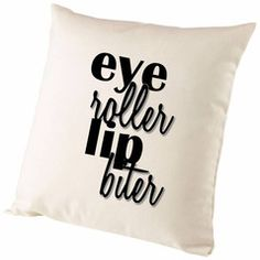 Fifty Shades Of Grey Eye Roller Lip Biter Cushion Cover