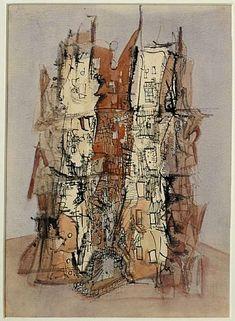 yama-bato:    Untitled (Cathedral)   WOLS [+]  circa 1945-1946