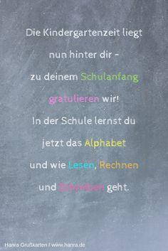 Weitere Sprüche für die Karte zur Einschulung findest Du im Grußkartenblog blog.hanra.de. Und viele Karten zur Einschulung gibt es auf www.hanra.de