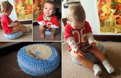 Have you seen the Crochet Pouf from Recycled baby clothes?