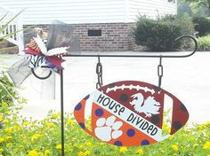 House divided football signs