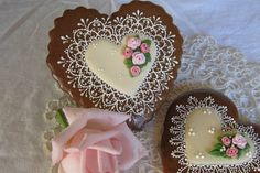 Lace, gingerbread, hearts, roses