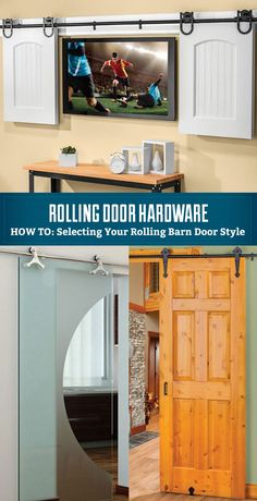 Selecting Your Rolling Barn Door Style - Whether your style tends toward rustic charm or the sleek and contemporary, our smooth-operating rolling door hardware can add a beautiful and functional design element to your interior.