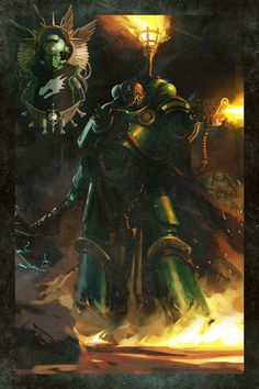 Adrax Agatone is the anvil against which the enemies of the Salamanders break. Where he holds the line, the Salamanders fight with unstoppable determination. Warhammer 40k Salamanders, Salamanders Space Marines, Warhammer 40k Art, Warhammer 40k Miniatures, Art Eras, Necron, Into The Fire, Geek Art, Biker Quotes