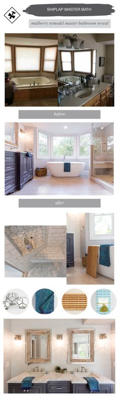 Modern Traditional Master Bathroom Designs | construction2style | Wall sconce lighting, large white soaking tub, traditional neutral tile