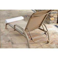 Garden Treasures Davenport Mesh Seat Steel Patio Chaise
