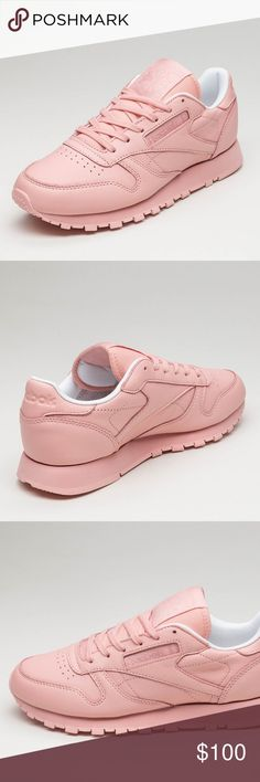 ed1c2c947d1ce REEBOK CLASSIC LEATHER PATINA PINK ALL PINK REEBOK CLASSIC LEATHER PASTELS  (PATINA PINK   WHITE