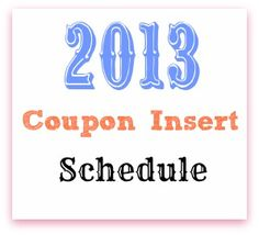 2013 Coupon Insert Schedule All about finding which store is having which sale just put in your zip code!!
