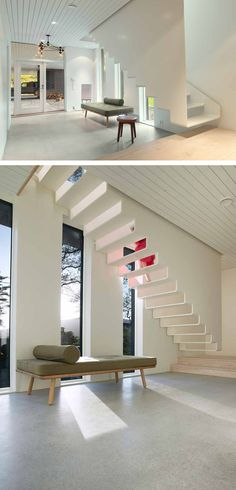 Contemporary Stairs You Can See Through