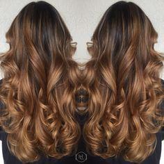 Caramel Balayage Ombré . Hairlegacy , hair by: Emilio V