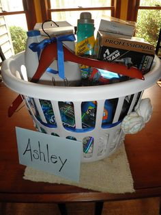 DIY Laundry Gift Basket