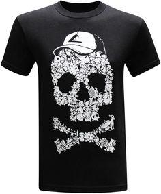 Pokemon Go Ash Ketchum Skull Men's T-Shirt