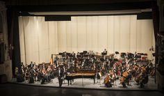 Encuentro de Gigantes. Orquesta Filarmónica de Santiago. Director: Konstantin Chudovsky. Solista: Alexei Volodin (piano). Foto: Patricio Melo