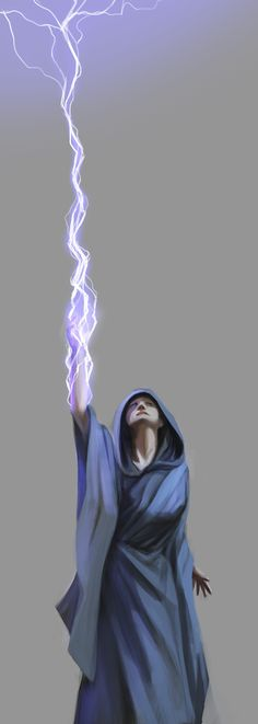 Lightning magic energy