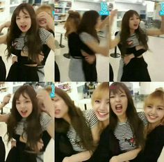 Lisa and Jennie from BlackPink Kim Jennie, Girl Day, My Girl, South Korean Girls, Korean Girl Groups, Bff Poses, Black Memes, Blackpink Memes, Memes Funny Faces