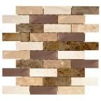Jeffrey Court Copper Canyon 12 in. x 12 in. x 6 mm Copper and Marble Mosaic Wall Tile-99603 - The Home Depot