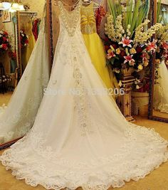 >> Click to Buy << Real Sample Luxury Royal Style Crystal Spaghetti Strap Ivory Lace Princess Wedding Dress chiffon formal gown #Affiliate