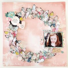 'Chasing Dreams' layout by Kylie Kingham for Sassyscrappers using 'Chasing Dreams' collection by Maggie Holmes. Learn more at paperdweetpea.wordpress.com ~ Wendy Schultz ~ Scrapbook Layouts.