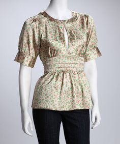 Take a look at this Punk Cheetah Tie-Waist Top by Blow-Out: Women's Apparel on #zulily today!