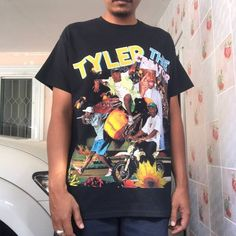 Tyler The Creator Tyler The Creator - Flower Boy Bootleg Tee Tyler The Creator Shirt, 90s Shirts, Baddie, Mens Fashion Sweaters, Teenage Girl Outfits, Apparel Design, Vintage Outfits, Graphic Tees, Sperrys Men