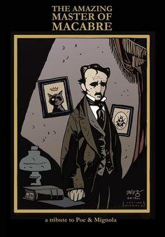 A tribute to Poe by Mike Mignola. Mike Mignola, Edgar Allan Poe, Premature Burial, Hp Lovecraft, Allen Poe, American Poets, Arte Pop, Map Art, Macabre