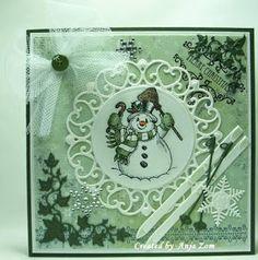 Anja Zom kaartenblog: juli 2013 Marianne Design, Vintage Cards, Vintage Christmas, Joy, Daisy, Frame, Crafts, Home Decor, Picture Frame