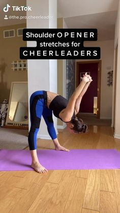 Cheerleading Workouts, Cheer Workouts, Cheer Stunts, Gymnastics Workout, Easy Workouts, Gym Workout For Beginners, Fitness Workout For Women, Workout Videos, Yoga For Flexibility