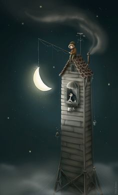 Karls Night - Katya Maleev illustrations