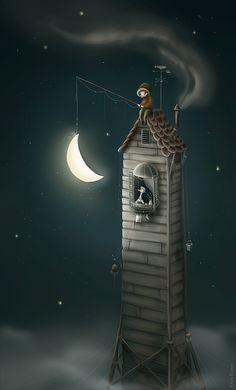 Karls Night - Katya Maleev illustrations