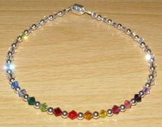 Swarovski Crystal Rainbow Anklet Ankle Bracelet $14.99 | eBay