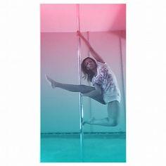 Not sure what this is called, but it was hard getting into  #PoleFitness #PolePose #PoleDance #PoleDancer #PoleLife #PrincessPoleFitness #Fitness #Health