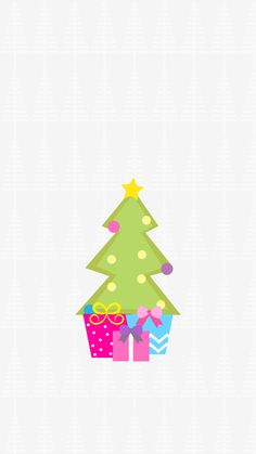 Christmas, Xmas, Wallpaper, iPhone, Background, Tree, Presents, Grey, Cute