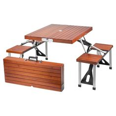 Found it at Wayfair - Picnic Table in Brown