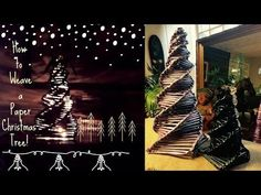 How to make a Paper Christmas Tree Tutorial (recycling newspaper) - YouTube