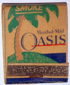 #MATCHBOOK #frontstriker , OASIS Tobacco.  To Order your Business' own branded #matchbooks GoTo: www.GetMatches.com or CALL 800.605.7331 TODAY!