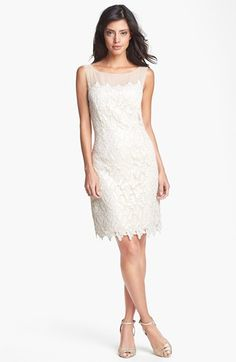 Lilly Pulitzer® 'Fulton' Foiled Lace Cotton Sheath Dress available at #Nordstrom